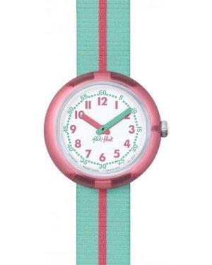Childrens Flik Flak Pink Band Watch FPNP020