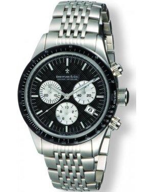Mens Dreyfuss Co 1953 Chronograph Watch DGB00032/04
