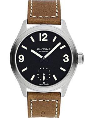 Mens Glycine Incursore II 44mm Manual Mechanical Watch 3901.19-LB7