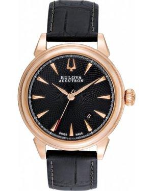 Mens Bulova Accutron Gemini Automatic Watch 64B116
