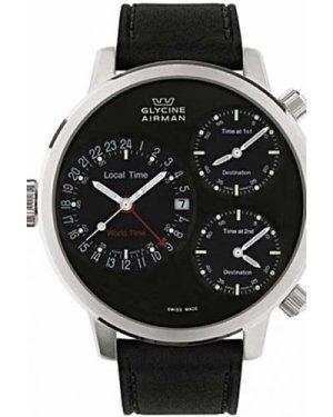 Mens Glycine Airman 7 Crosswise Automatic Chronograph Watch 3841.19-LB9