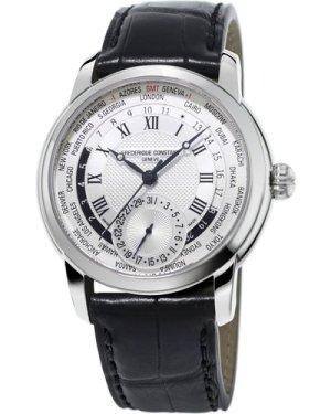 Mens Frederique Constant Classic Manufacture Worldtimer Automatic Watch FC-718MC4H6