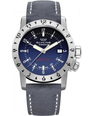 Mens Glycine Airman Double Twelve Automatic Watch 3938.18-LB8B
