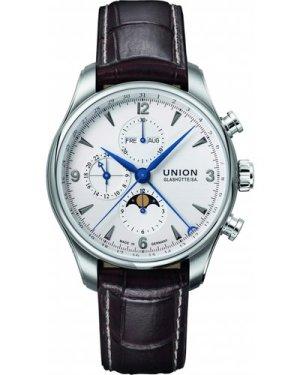 Mens Union Glashuette Belisar Moonphase Automatic Chronograph Watch D0094251601710