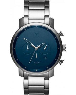 MVMT Midnight Silver Chrono Watch MC01-SBLU
