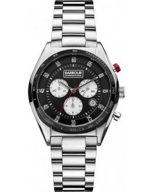 Mens Barbour International Boswell Chronograph Watch BB025BKSL