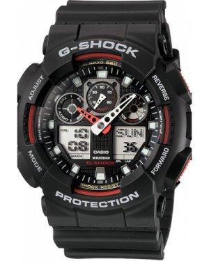 Mens Casio G-Shock Alarm Chronograph Watch GA-100-1A4ER
