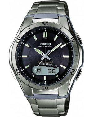 Mens Casio Waveceptor Titanium Alarm Chronograph Radio Controlled Watch WVA-M640TD-1AER
