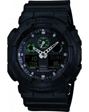 Mens Casio G-Shock Military Black Alarm Chronograph Watch GA-100MB-1AER