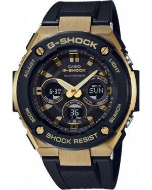 Mens Casio G-Steel Midsize Alarm Chronograph Radio Controlled Watch GST-W300G-1A9ER