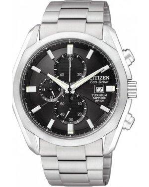 Mens Citizen  Titanium Chronograph Eco-Drive Watch CA0020-56E