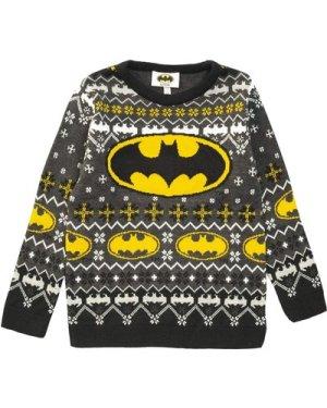 DC Comics Batman Classic Logo Boys Knitted Jumper