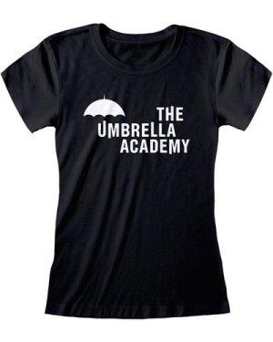 Umbrella Academy Text Logo Women's Fitted T-Shirt