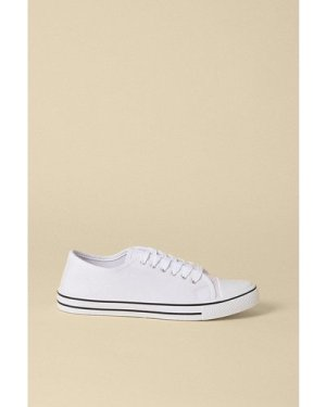 Womens Canvas Lace Up Trainer