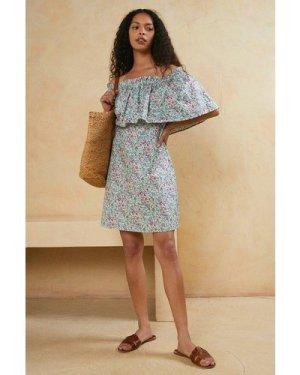 Womens Garden Ditsy Frill Bardot Dress