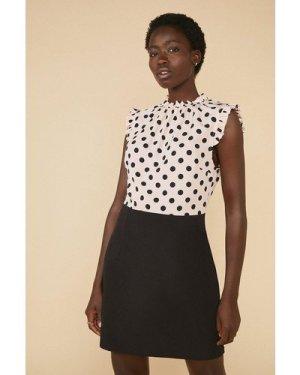 Womens Spot Print 2 In 1 Dress