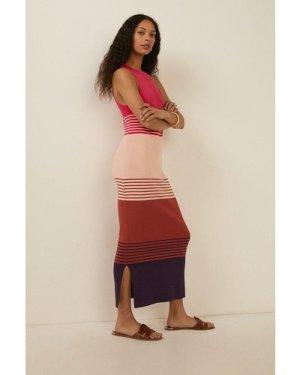 Womens Racer Stripe Midi Dress