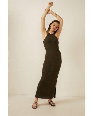 Womens Glitter Knit Summer Dress