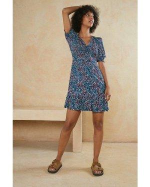 Womens Tabitha Ruched Shirred Cuff Mini Dress