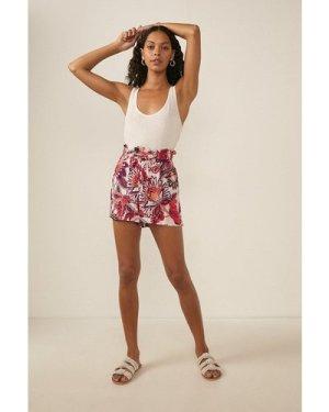 Womens Paisley Crinkle Short