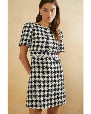 Womens Boucle Mini Dress