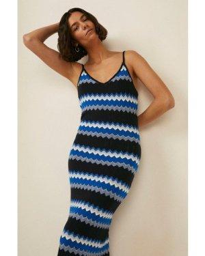 Womens Zig Zag Stripe Dress