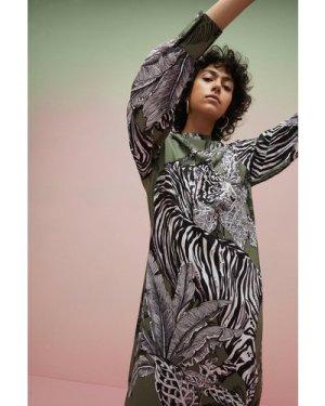 Womens The Wild Kind Placement Tiger Print Column Midi