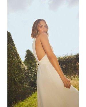 Womens V Neck Sleeveless Tailored Dress