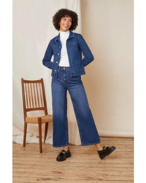 Womens Organic Crop Wide Leg Jean
