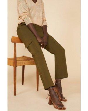 Womens Cotton Sateen Cargo Trouser