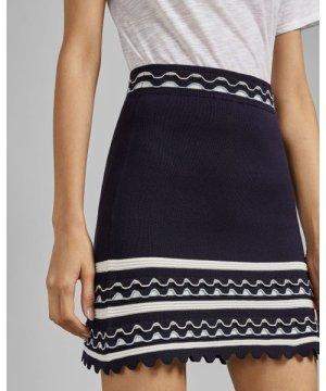 Frill Striped Mini Skirt