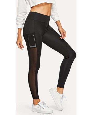 Mesh Panel Skinny Leggings