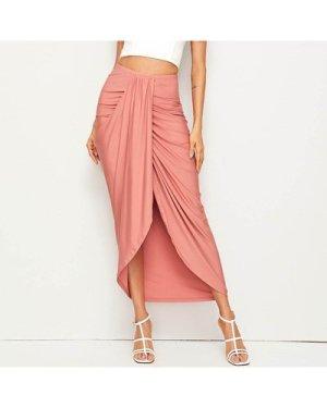 High Waist Draped Skirt