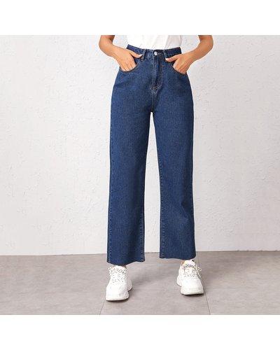 Bleach Wash High-Rise Baggy Jeans