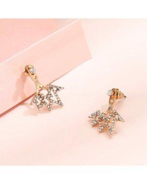 Metal Rhinestone Earrings