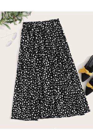 Plus All Over Print Flare Skirt