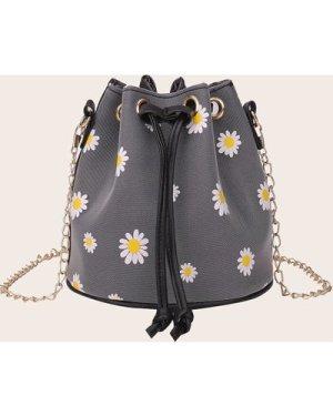 Daisy Floral Bucket Bag
