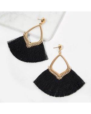 Fan Tassel Drop Earrings 1pair