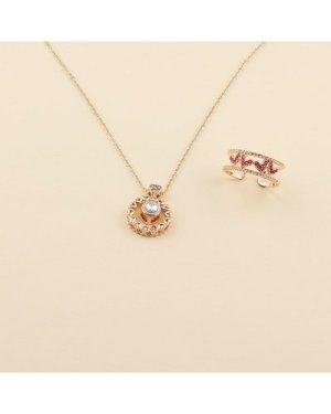 2pcs Rhinestone Jewelry Set