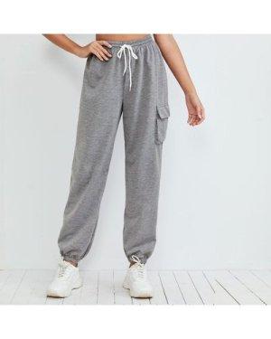 Space Dye Flap Pocket Drawstring Pants