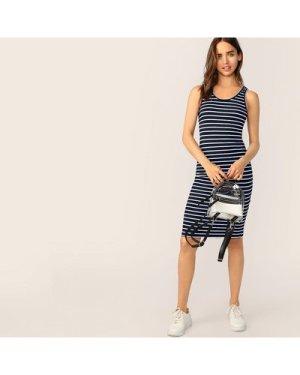 Striped Pencil Tank Dress