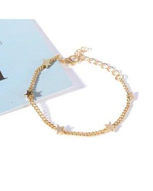 Star Charm Chain Bracelet 1pc