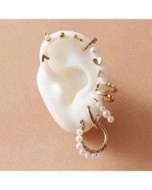 12pcs Faux Pearl Decor Earrings