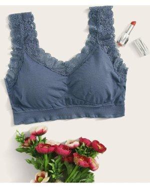 Floral Lace Trim Bralette