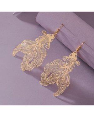 Goldfish Charm Drop Earrings