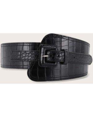 Croc Pattern Wide Belt