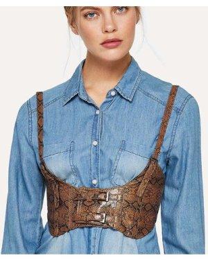 Faux Leather Harness Belt