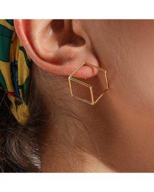 Open Polygon Earrings 1pair