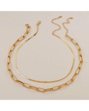 2pcs Metal Chain Necklace
