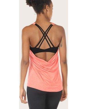 Crisscross Sports Bra Insert Marled Knit Top